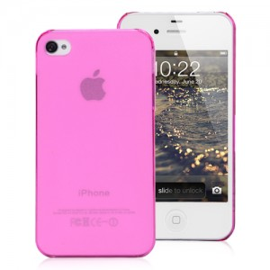 Pink silicone case for iPhone 4/4S