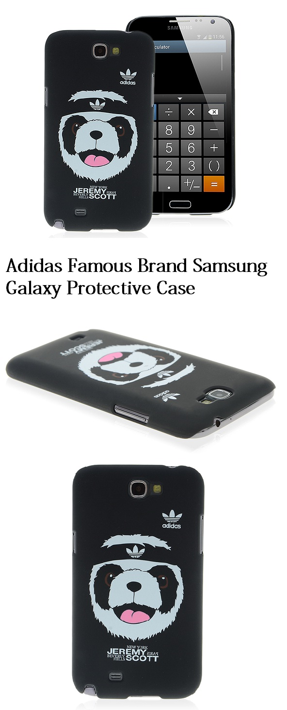 Panda Face Cover Case Adidas Brand Logo for Samsung Galaxy Note 2