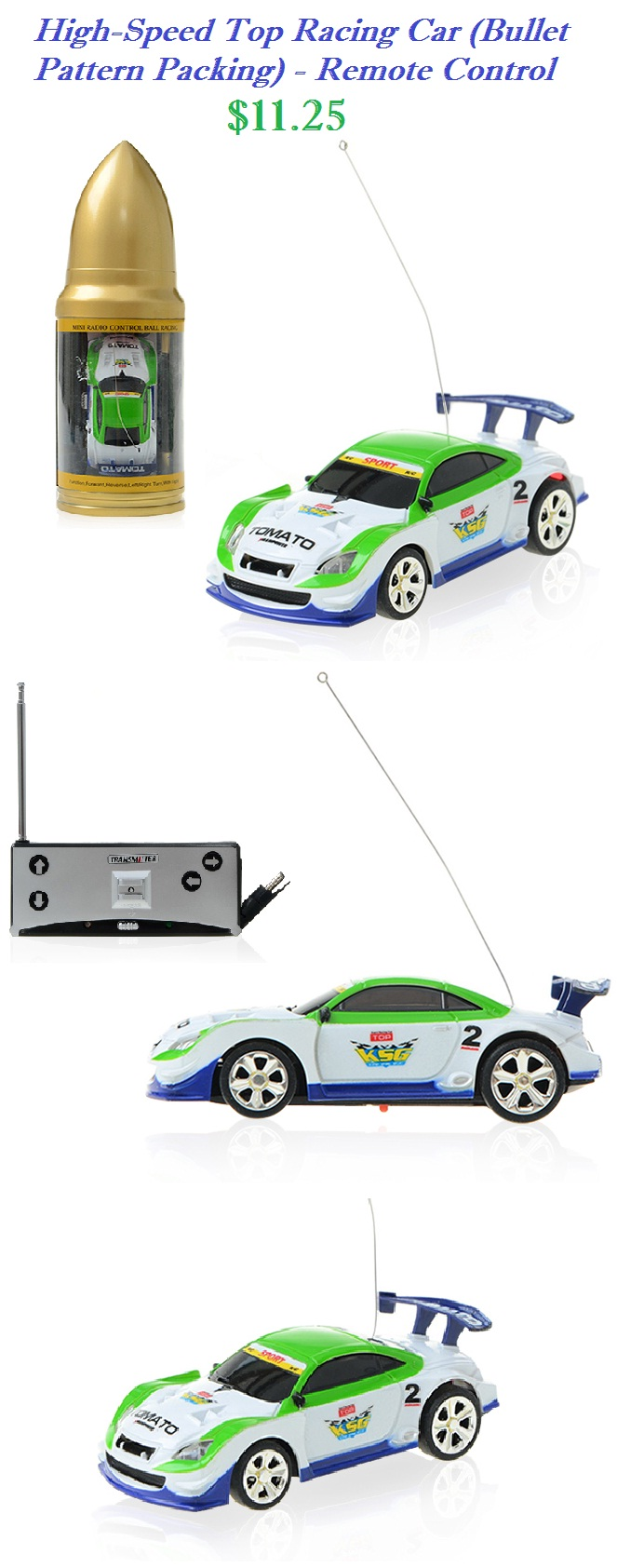 racing speed car remote control toy