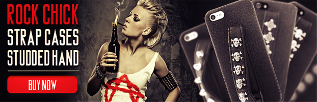 rock chick strap leather studded iphone cases