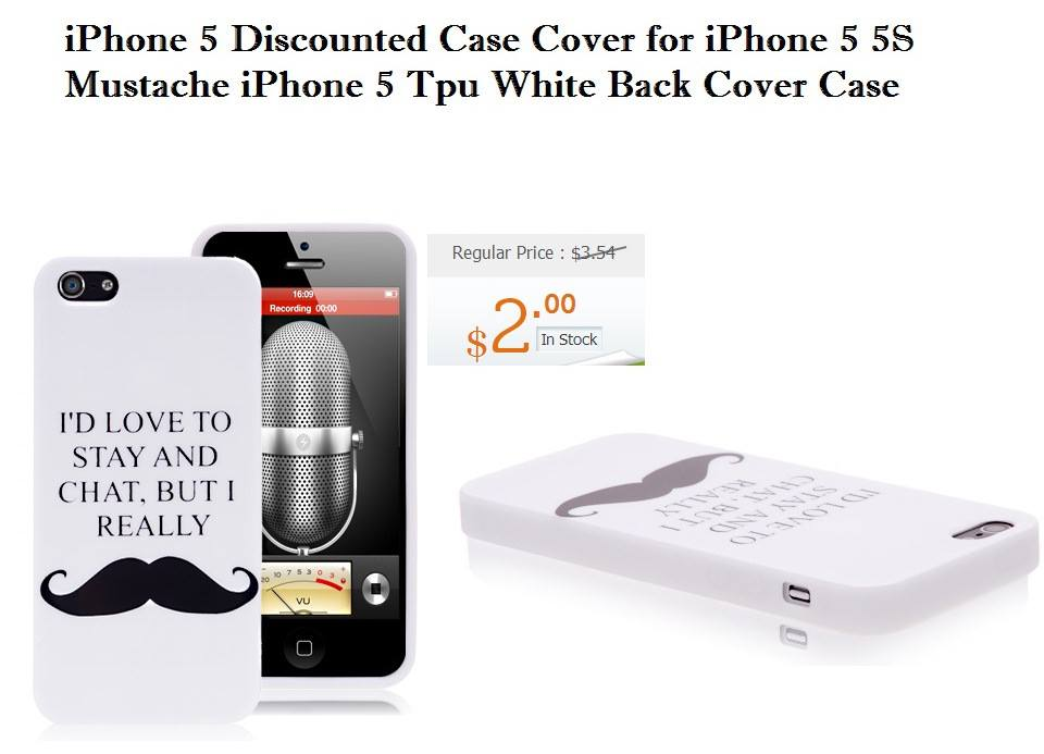 50% discount on iPhone 5  Mustache Case