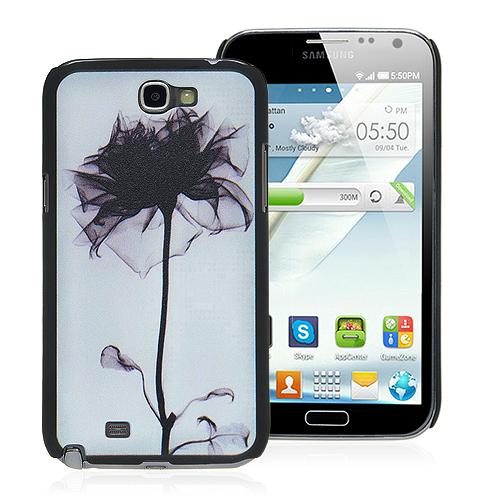 Flower Print Back Cover For Samsung Galaxy Note II