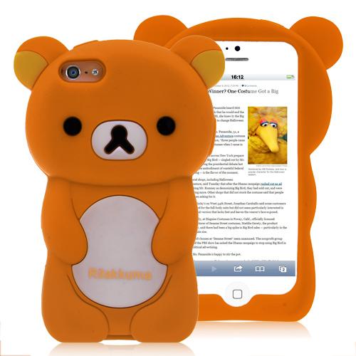 Rilakkuma Bear Silicone Case For iPhone 5