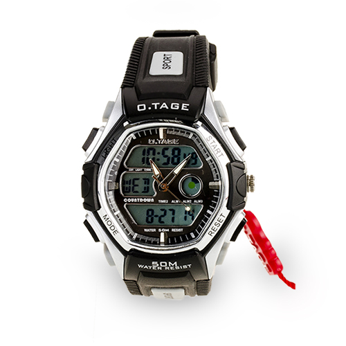 OTAGE Sports Waterproof Dual Time Display Wrist Watch