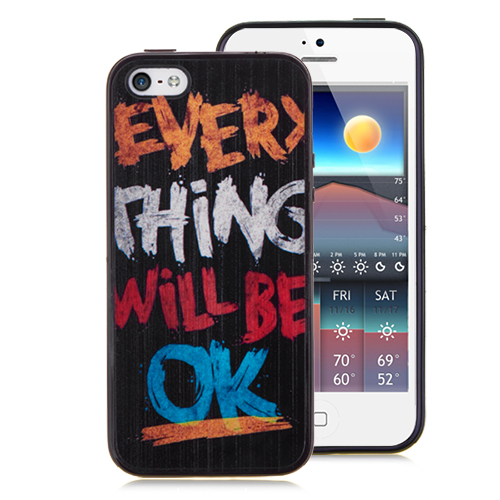 Matt Letters Print Hard Back Cover for iPhone 5 & 5S